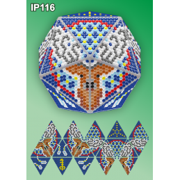 IP116. 3d Christmas ball...