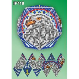 IP118. 3d Christmas ball...