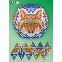 IP119. 3d Christmas ball...