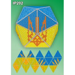 IP202. 3d Christmas ball...