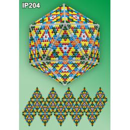 IP204. 3d Christmas ball...