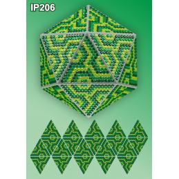 IP206. 3d Новогодний шар...