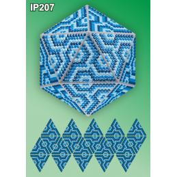 IP207. 3d Christmas ball...