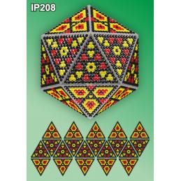 IP208. 3d Новогодний шар...