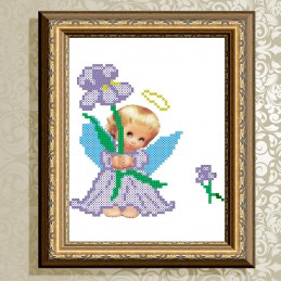 VKA5003. Angel with violet