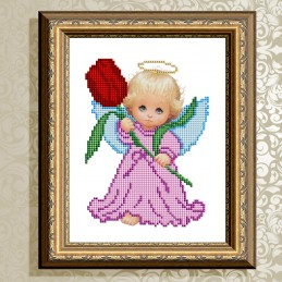 VKA5004. Angel with Tulip