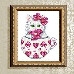 VKA5023. Kitten in the hearts