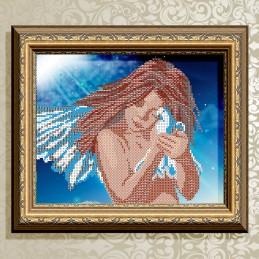 VKA4022. Ангел с голубем