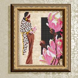 VKA4031A. Girl with Magnolia