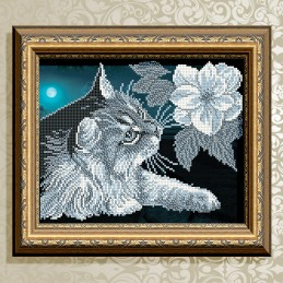 VKA4054. Cat with Magnolia