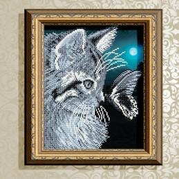 VKA4057. Кот с бабочкой
