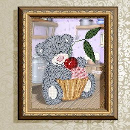 VKA4412. Bear with cupcake