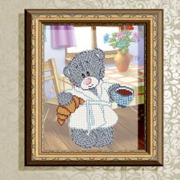 VKA4413. Bear with coffee