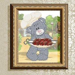 VKA4416. Bear with barbecue