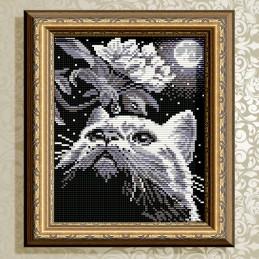 АТ5508. Кот с веточкой