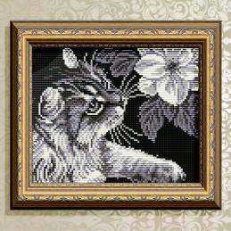 АТ5509. Кот с магнолией