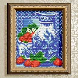 АТ5517. Gzhel. Strawberry