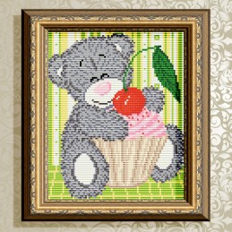 АТ5527. Bear with cupcake