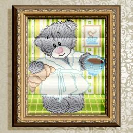 АТ5528. Bear with coffee