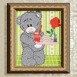 АТ5531. Bear with tray