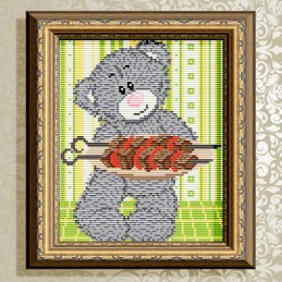 АТ5533. Bear with barbecue