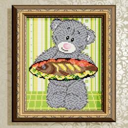 АТ5534. Bear with fish