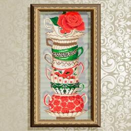 AT3217. Чашки с розой
