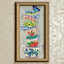 AT3218. Чашки с бабочкой