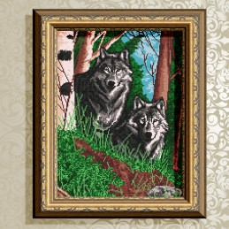 VKA3039. Wolves in the woods