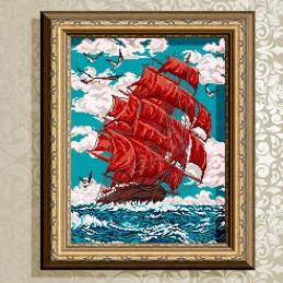 VKA3048. Scarlet sails