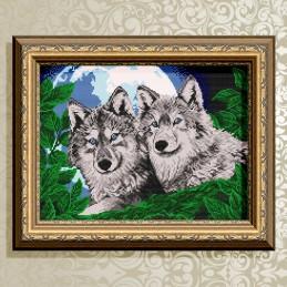 VKA3049. Волки лунной ночью