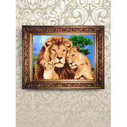 "NMK002. ""Lions in the Savannah"". Set for beadwork"