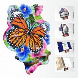 APM-05. Butterfly and Pansies