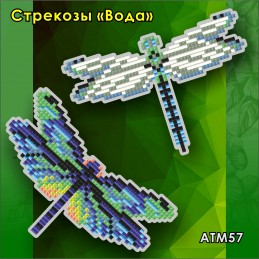 "ATM57. Children's magnet ""Dragonflies. Water"""