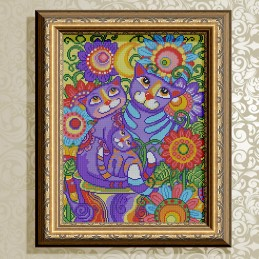 VKA3148. Inseparable cats.