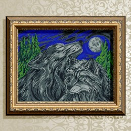 VKA3153. Wolf and she-wolf