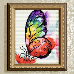 AT5604. Rainbow butterfly