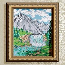 АТ5606. Водопад в горах