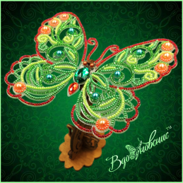 BGP-085. Openwork 3d butterfly