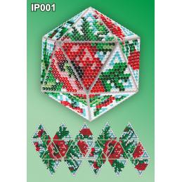 IP001 3d Christmas ball...