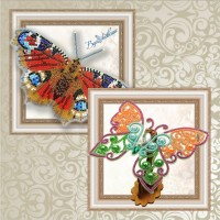3D butterflies. Kits for embroidery with beads