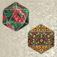 3d новогодние шары. наборы для выкладки стразами
