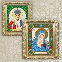 christian icons. sets for laying out rhinestones