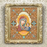 icons in a pearl frame. 185х220мм