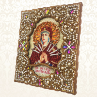 icons, 190x230mm. Kit for embroidery with beads on wood